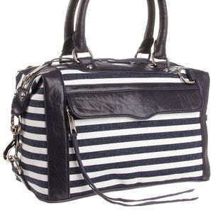 Rebecca Minkoff MAB mini navy stripe bag